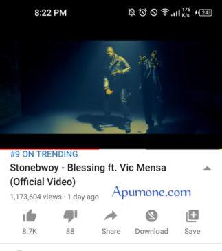 stonebwoy: Blessing featuring Vic Mensah
